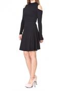 Multi-style High Waist A-line Flared Skater Mini Skirt (M, Black) – Womens Skirt Best Price