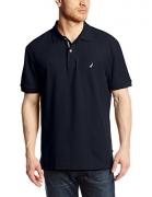 Nautica Men's Short Sleeve Solid Deck Polo Shirt, Navy, X-Large.
