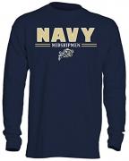NCAA Navy Men's OVB Long Sleeve Thermal Shirt, Large, Navy