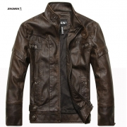 New brand motorcycle leather jackets men
