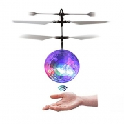 NiGHT LiONS TECH RC Toy, RC Flying Ball, RC infrared Induction Helicopter Ball Built-in Shinning LED Lighting for Kids, Teenagers Colorful Flyings for Kid's Toy gift