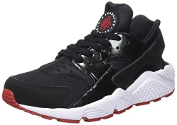 Nike Air Huarache Bred Men Lifestyle Casual Sneakers New Black Gym Red – 9.5