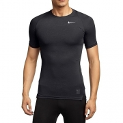 Nike Men's Pro Cool Compression Short-Sleeved T-Shirt, Black/Dark Grey/White, 2XL