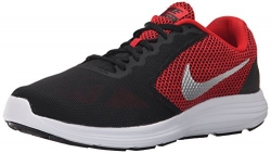 NIKE Men's Revolution 3 Running Shoe, University Red/Metallic Silver/Black, 10 D(M) US.