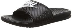 Nike Womens Benassi JDI Slide Black/White Sandal 7 B – Medium