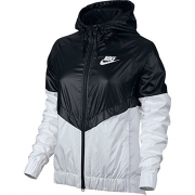 Nike Womens Windrunner Track Jacket Black/White 804947-010 Size Small