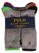 Polo 6 Pack Crew Sock Grey 10-13