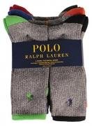 Polo 6 Pack Crew Sock Grey 10-13