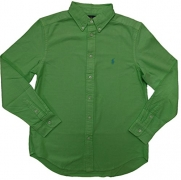 Polo Ralph Lauren Boy's Pony Logo Button-Down Oxford Shirt (L(14-16), Aruba Lime)