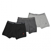 Polo Ralph Lauren Classic Cotton Boxer Brief 3-Pack, M, Grey Assorted