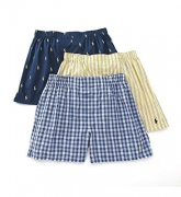 Polo Ralph Lauren Classic Woven Boxer 3-Pack Large