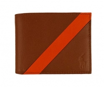 Polo Ralph Lauren Men's Wallet Leather Brown Orange