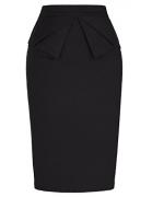 PrettyWorld Vintage Dress Elastic Women Bodycon Pencil Skirt Wear to Work Black (L) KL-1 CL454 – Womens Skirt Best Price