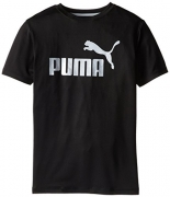 PUMA Big Boys' No.1 Logo Tee, PUMA Black, 14-16 (Large).