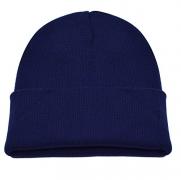PZLE Old Navy Hat Winter Navy Blue Beanie Man Beanie Hat Soft Knit Hat Dark Navy