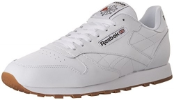 Reebok Men's Classic Leather Fashion Sneaker, US-White/Gum, 10 M US.