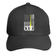 Retro Softball Usa Flag Snapback Sandwich Cap Black Baseball Cap Hats Adjustable Peaked Trucker Cap – Men's Hat Best Price