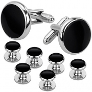 Jstyle Mens Cufflinks and Studs Set Tuxedo Shirts Business Wedding