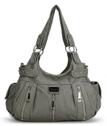 The Lovely Tote Co. Women's Cranes Print Mini Backpack, Khaki.