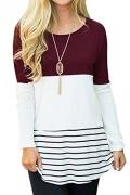 YaYa Bay 2XL Tunic, Fashion V-Neck Ladies Long Sleeve Office Blouses XX Large Black Zip Up Casual Sweatershirts Tunic Shirt.