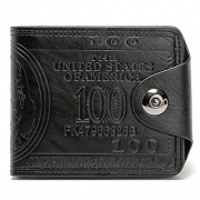 Sibalasi-New Men's US Dollar Wallet Bill Money Bifold Safe Purse With Magnetic Buckle (Black) – Mens Wallet Best Price