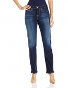Signature by Levi Strauss & Co Women's Curvy Straight Jeans, Vivacious, 12 Medium