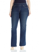 Signature by Levi Strauss & Co Women's Plus-Size Pull On Bootcut Jeans, In The Groove, 20 Medium