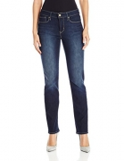 Signature by Levi Strauss & Co Women's Totally Shaping Slim Straight Jeans, Perfection, 14 Short