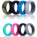 Silicone Wedding Ring Band-4 Pack-Safe Flexible Comfortable Medical Grade Love Rings Set...