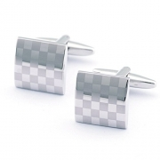 Gun Metal Textured Cuff Links in Gift Box-Luxury French Tuxedo Shirt Cufflinks -Cool and Fashionable Gift