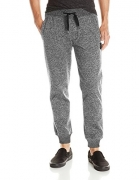 Southpole Men's Jogger Pants Basic Fleece Solid Clean in Marled Colors, Marled Grey (New), X-Large