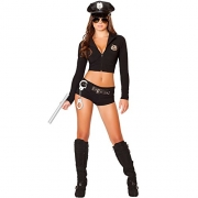 Leg Avenue Women's 3 Piece No Rules Referee Costume, Black/White, Large.