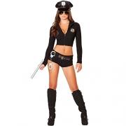 Leg Avenue Women's 3 Piece No Rules Referee Costume, Black/White, Large.
