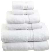 Superior 900 GSM Luxury Bathroom 6-Piece Towel Set, Made of 100% Premium Long-Staple Combed Cotton, 2 Hotel & Spa Quality Washcloths, 2 Hand Towels, and 2 Bath Towels – White