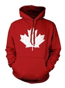 Shop4Ever Canada White Maple Leaf Hoodies Canadian Flag Sweatshirts Medium Red 0