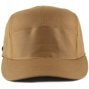 The Hat Depot Exclusive Made in USA Cotton 5 Panel Unstructured Outdoor Cap (Timber) – Men's Hat Best Price