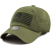The Hat Depot Low Profile Tactical Operator USA Flag Buckle Cotton Cap (Olive-2) – Men's Hat Best Price