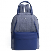 The Lovely Tote Co. Lurex Backpack with Shoulder Straps, Navy, One size.