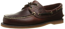 Timberland Men's Classic 2-Eye Boat Shoe, Rootbeer/Brown, 10.5 M.