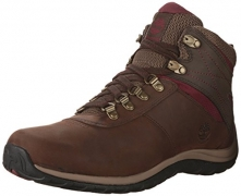 Timberland Women's White Ledge Mid Ankle Boot,Brown,8 M US.