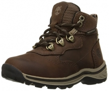 Timberland Women's White Ledge Mid Ankle Boot,Brown,8.5 M US.