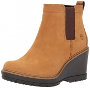 Timberland Womens Lakeville – Double Gore Chelsea Boot Medium Brown/Wheat Forty Size 7.