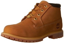 Timberland Women's Nellie Double WP Ankle Boot,Wheat Yellow,6.5 W US.