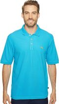 Tommy Bahama Men's The Emfielder Polo Shirt Blue Danube Large