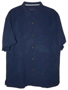 Tommy Bahama Rio Fronds Silk Camp Shirt (Color: Blue Radiance, Size 3XL).