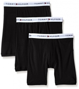 Tommy Hilfiger Men's 3-Pack Cotton Boxer Brief,Black,Large(36-38)