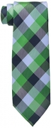 Tommy Hilfiger Men's Buffalo Tartan Tie, Green, One Size