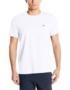 Tommy Hilfiger Men's Short Sleeve Crew Neck Flag Graphic T-Shirt, White, Medium