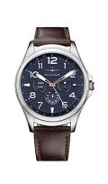 Tommy Hilfiger 'Smartwatch' Quartz Stainless Steel and Leather Casual Watch, Color:Brown (Model:...