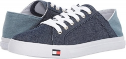 Tommy Hilfiger Women's Lancer 2 Sneaker, White Multi Fabric, 8 M US.